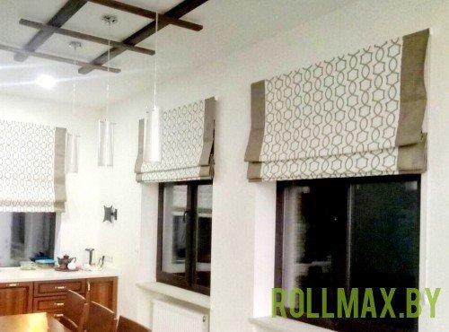 Тканевые римские шторы №01